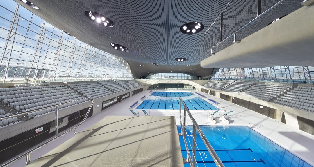 ZHA Aquatics Centre by photographer Hufton+Crow