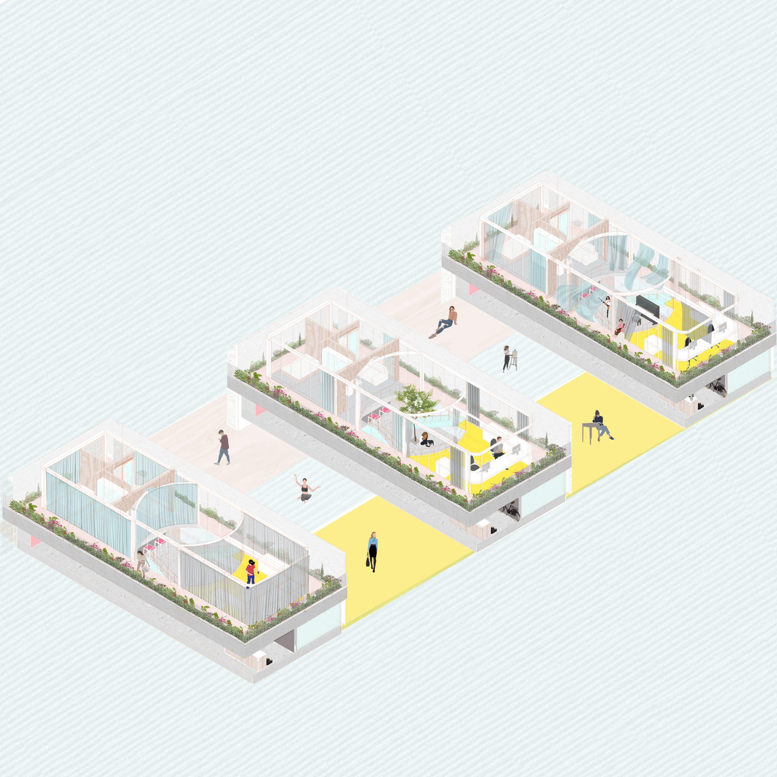 Home -office whit a gap - by Gerardo Fosado Rodríguez