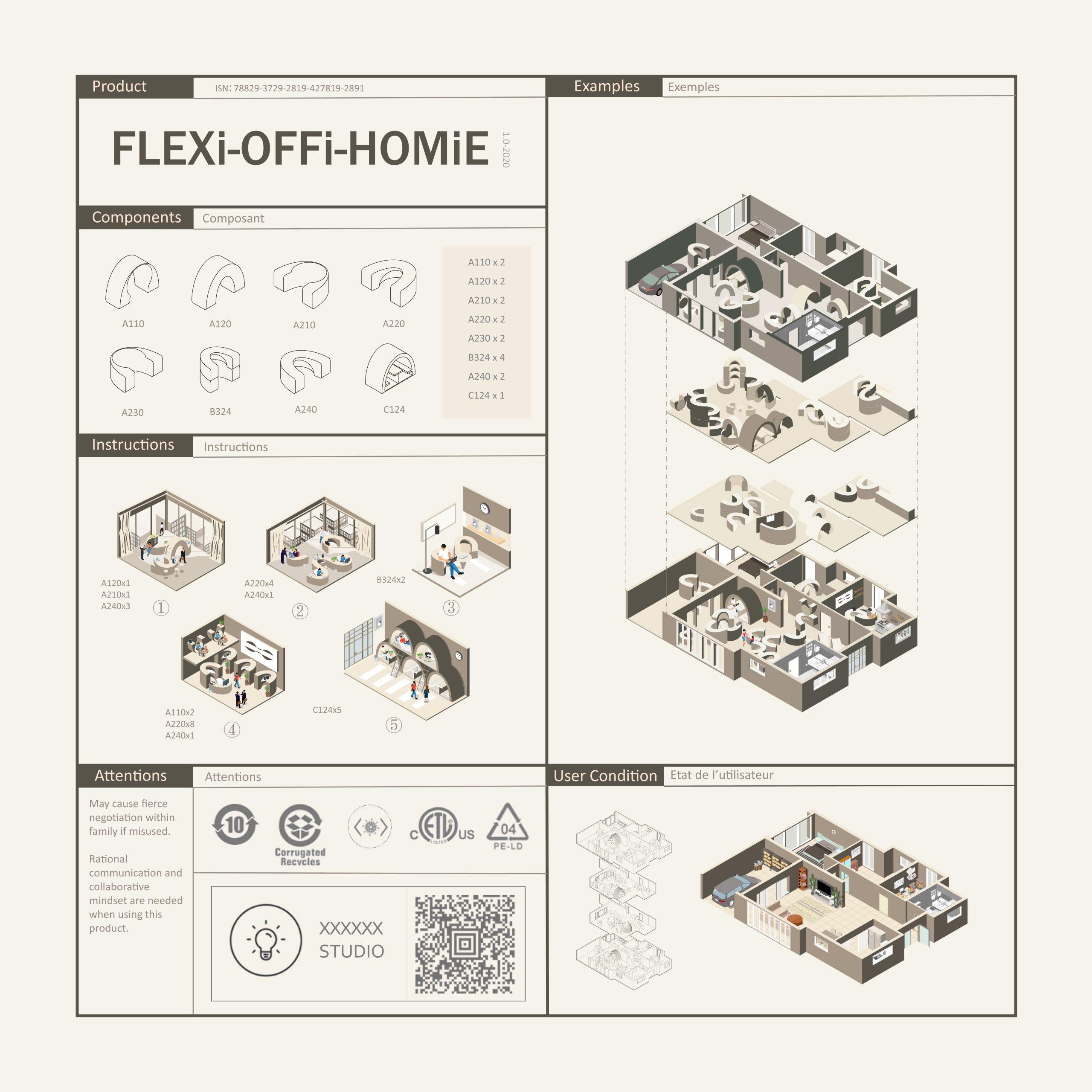 FLEXi-OFFi-HOMiE - by Jiachen Du, Qiongsen Jin & Yuxuan Lin