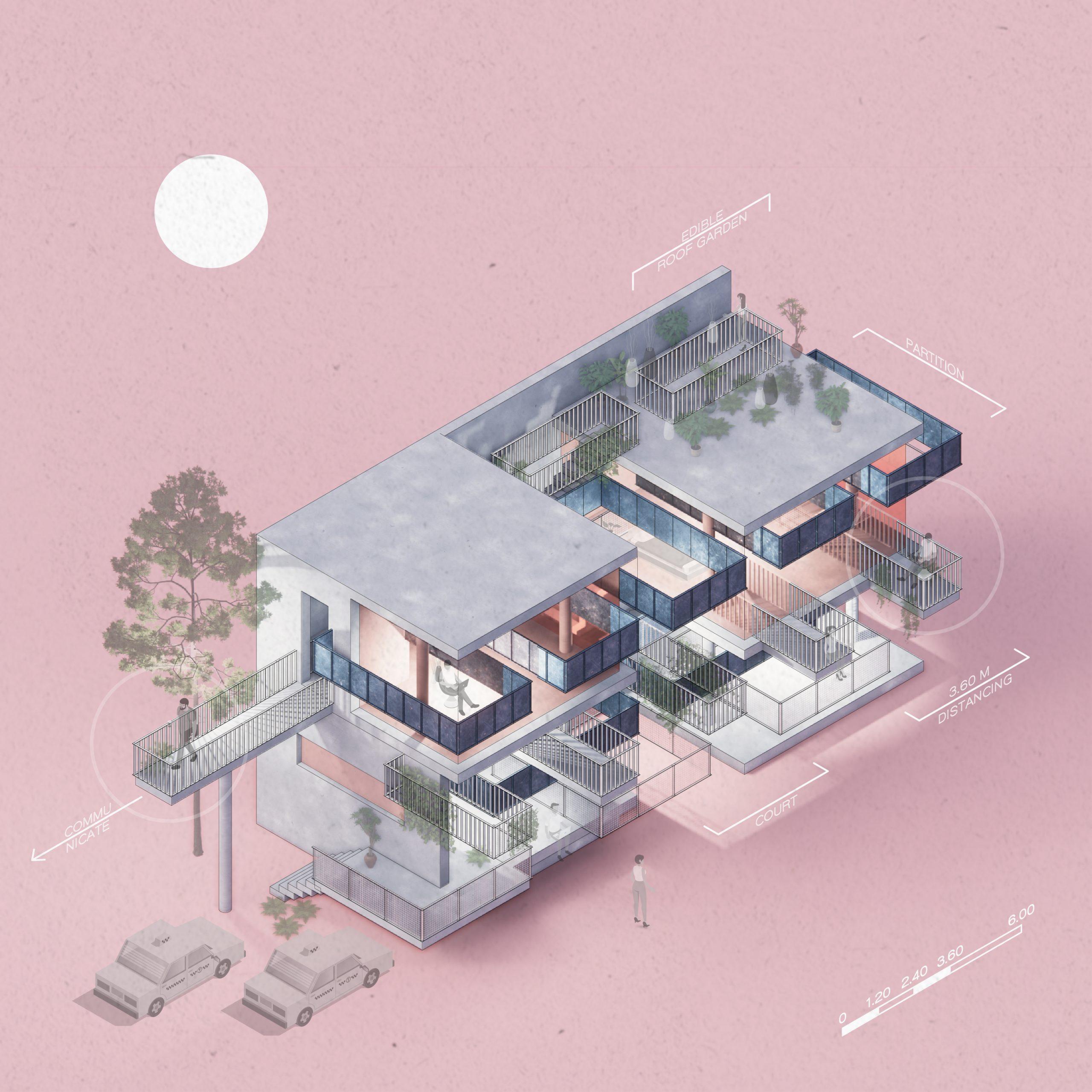 TERRACE TRACED HOUSE - by Thadtham Semaeakarat