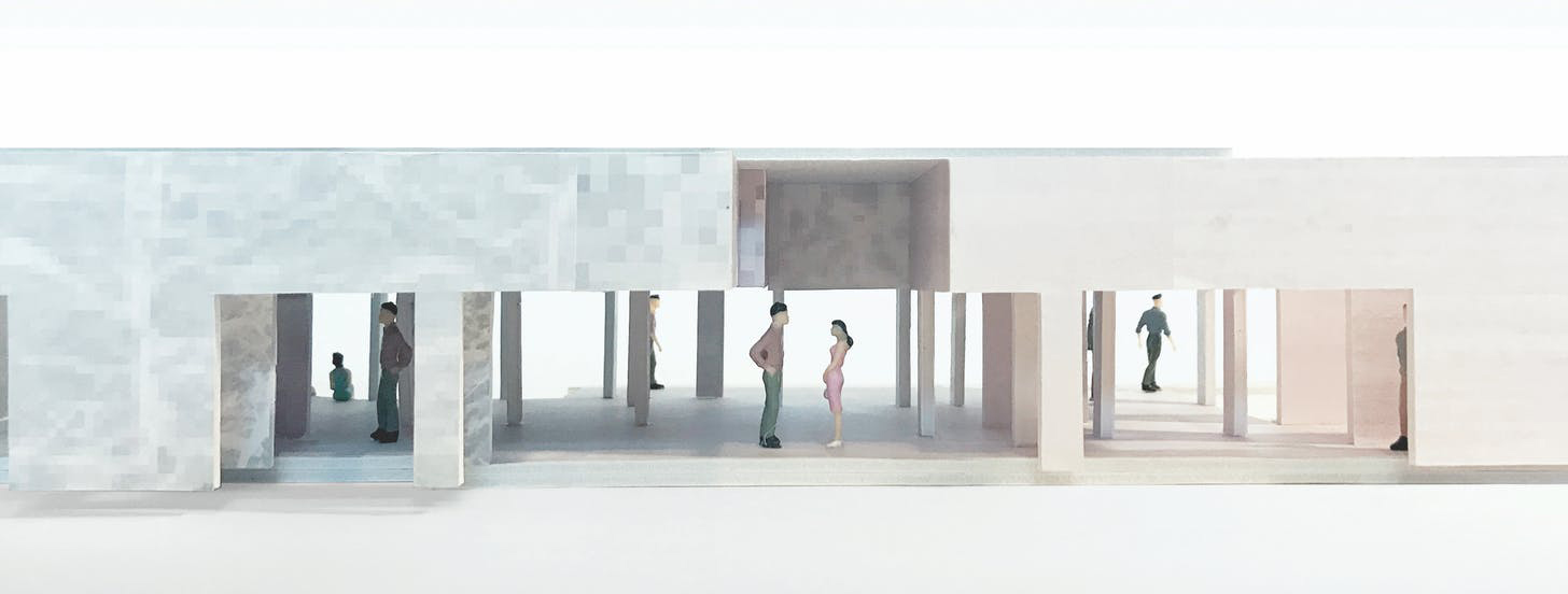 long Barcelona Pavilion Model, 2015-2017